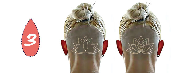 Nape Undercut Design Stencil - Lotus Flower - Free Download